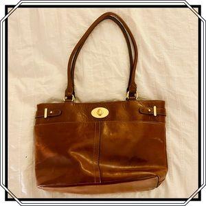 Giani Bernini Genuine Leather bag w/brass …